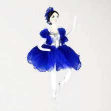 Royal Blue Ballerina Ornament