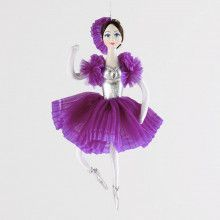 Purple Ballerina Ornament