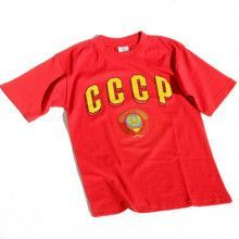 CCCP Soviet Coat of Arms Red T-Shirt