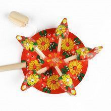 Pecking Hens Movable Russian Toy