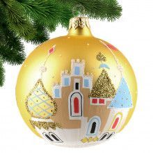 Christmas Cathedrals Glass Ball