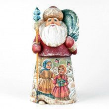 Russian Wooden Santa with Kids