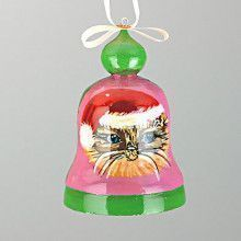 Cat Christmas Bell Ornament