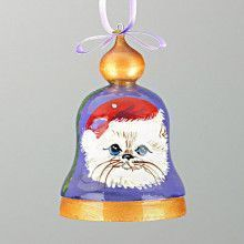 Christmas Cat Bell Ornament