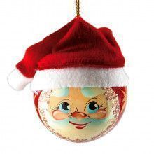 Santa Christmas Ball Tree Ornament