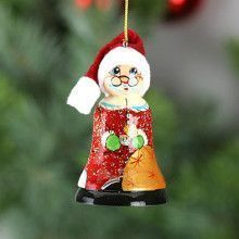 Santa Wooden Christmas Ornament