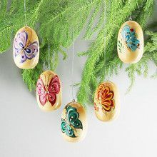 Butterflies Russian Eggs Ornaments