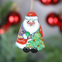 Santa Wooden Tree Ornament