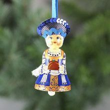 Russian Doll Bell Ornament