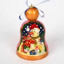 Snowman With Bunny Christmas Ornament