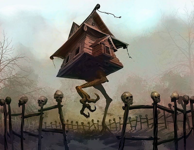 Baba Yaga's Hut Illustration