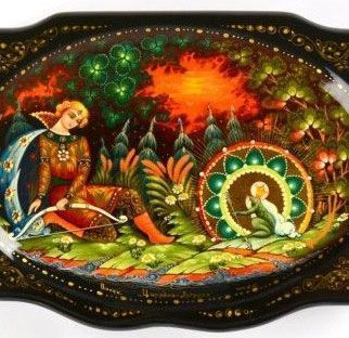 Frog Princess Tale on Lacquer Box