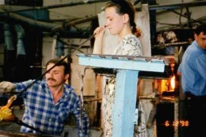 Glass Blowers in Russia Making Art Glass
