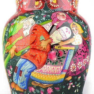 The Great Turnip Fairytale Illustrated on a Nesting Doll