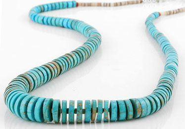 Turquoise Heishi Beads Necklace