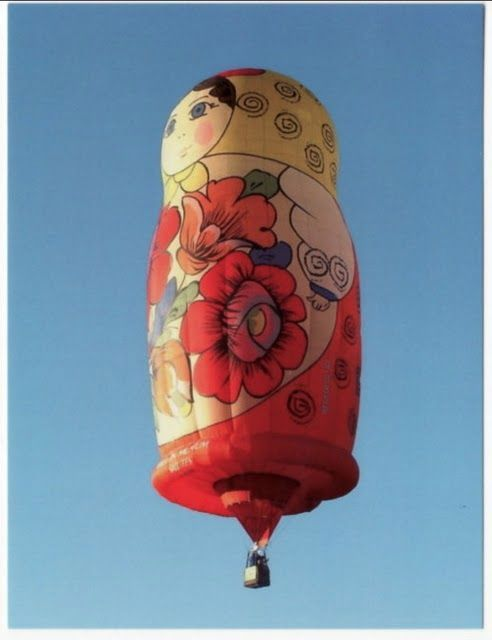 Matryoshka Nesting Doll Shaped Hot Air Balloon