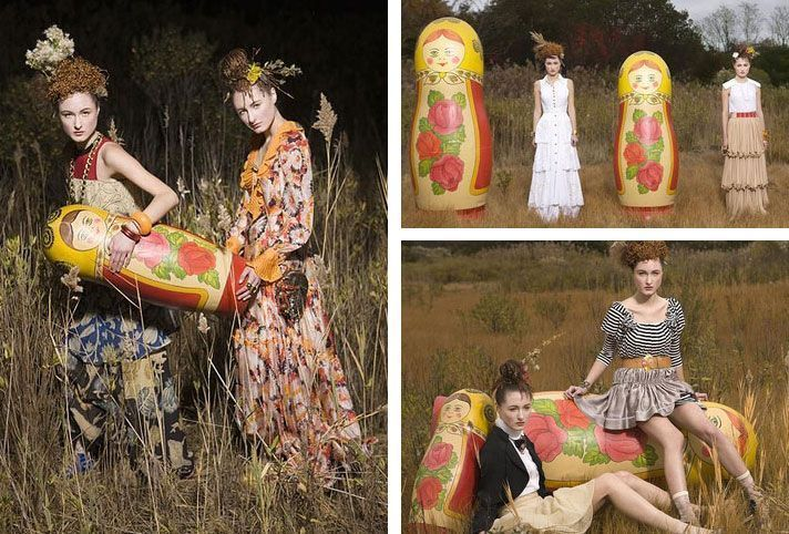 Photo - Russian High Fashion with Nesting Dolls
