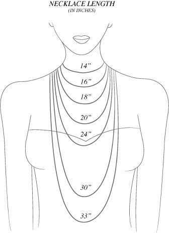 Necklace/Chain Length Guide