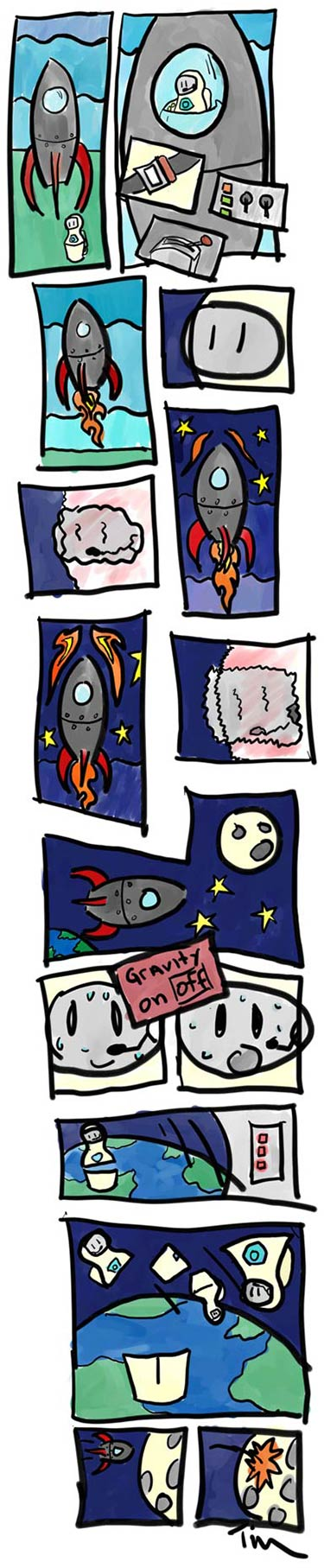 Comic Illustration: Nesting Dolls in Space