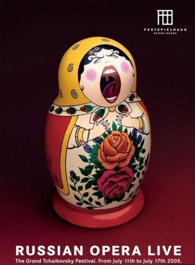 Opera Ad with Nesting Doll