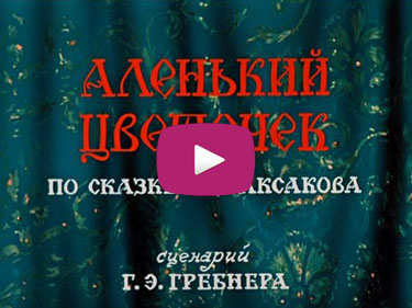 Video - Animation film adaptation of The Scarlet Flower Fairy Tale