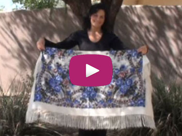 How to Tie Your Large Russian Shawl