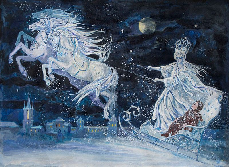 Elena Ringo's Illustration of the Snow Queen by H.C. Andersen