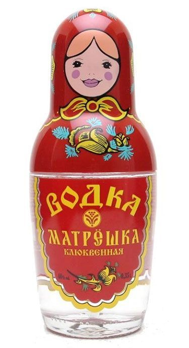 Matryoshka Design Vodka Bottle